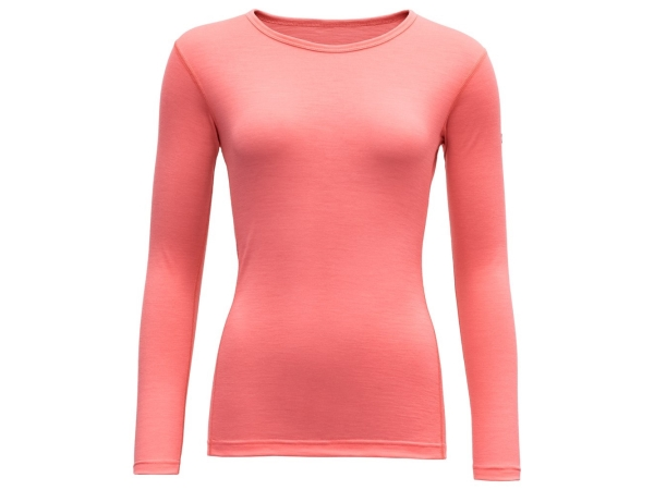Devold Breeze Woman Shirt Coral