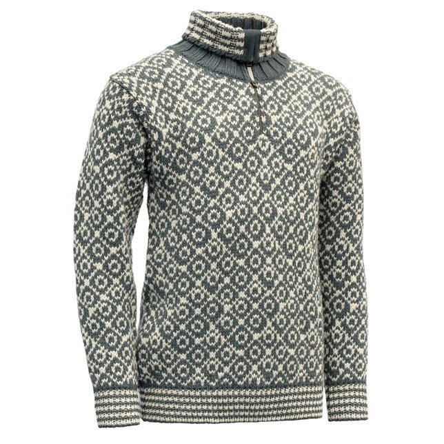 Devold Svalbard Zip Neck Turbulence/Offwithe
